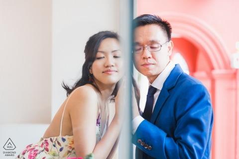 Photographe de mariage à Singapour pour la photographie de fiançailles en Asie