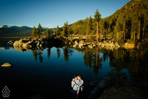 Lake Tahoe Pre-Wedding Portrait Photography at the Lake | California  Photography