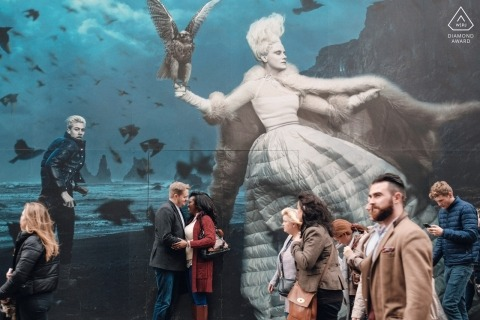 London pre-wedding Street mural Photography.