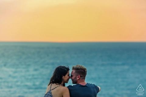 Sri Lanka Engagement Photos at the beach Near sunset