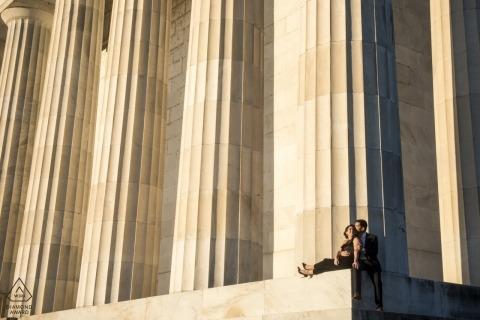 Maryland-monumentale Hochzeits-Verlobungs-Fotografie - Baltimore-Fotografen