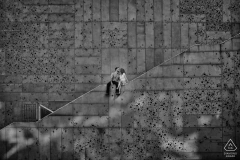 比斯開灣訂婚攝影師 -  B / W拍攝前婚禮肖像