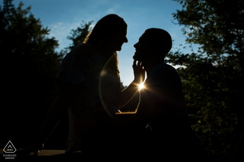 Minneapolis, Minnesota Wedding Engagement Photography at Sunset