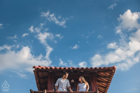 Rio de Janeiro Engagement Photographer | Pre Wedding Photos with Blue Sky