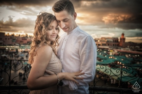 Vicenza Engagement Photographer | Portraits d'un couple au-dessus de la ville