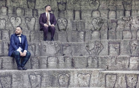 Milano Engagement Photos in the coloseum