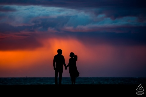 Zuid Holland Engagement Photography | NL sunset portraits at the beach