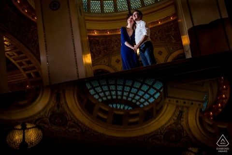 Chicago lit engagement photo shoot | magmod photographer