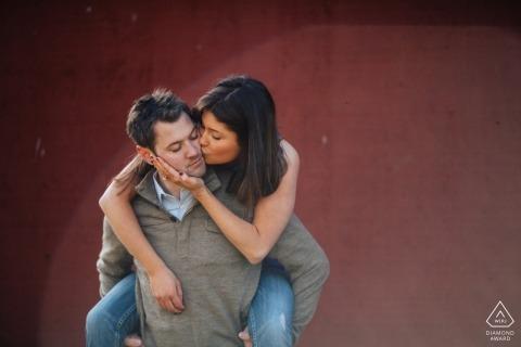 Sparo di fidanzamento WA | Sessione di matrimonio pre-piggy back