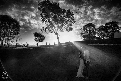 Engagement Photography for Brazil couple | Black and White Pre Wedding Portraits