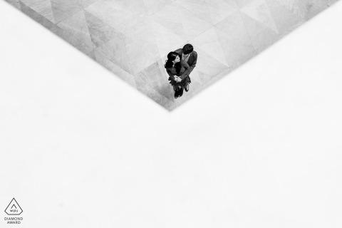 DC-Overhead-, grafische und saubere Engagement-Portraits