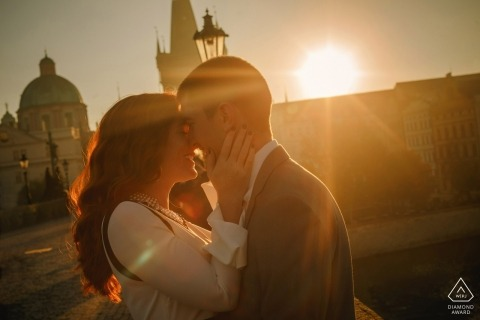 Czech Republic afternoon engagement photo shoot