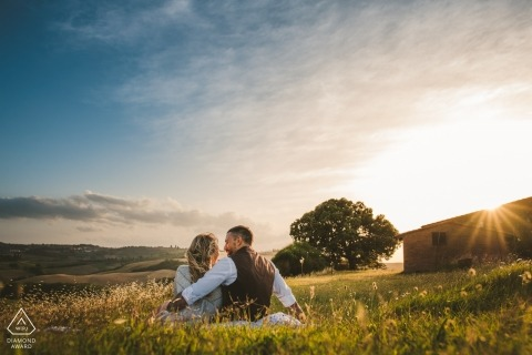 Special Couple Portrait in Val D'orcia