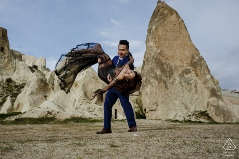 cappadocia turkey engagement couple shooting