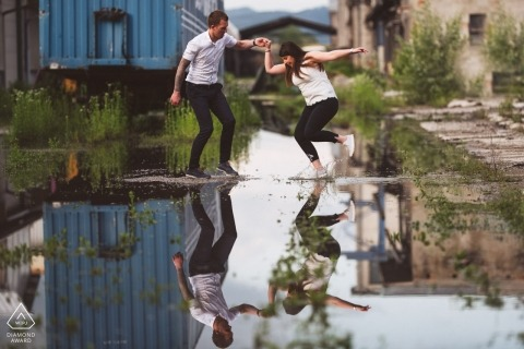 reflection engagement shoot | Getting out of comfort zone makes best memories