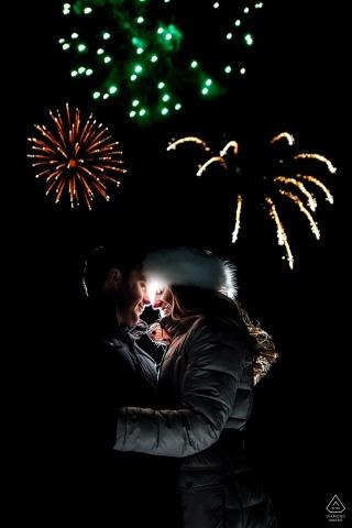 Beaver Creek Engagement Fireworks Photo | Wedding Photography for CO