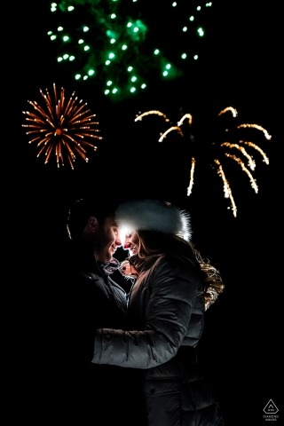 Feux d'artifice d'engagement de Beaver Creek | Photographie de mariage pour CO