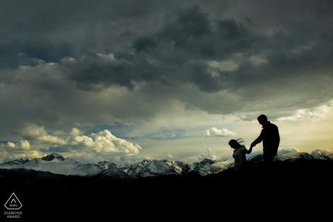 Photos d'engagement du parc national des Montagnes Rocheuses | Photographe de mariage Estes Park