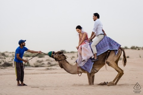 Dubai Engagement Shoot | Camel Rollercoaster