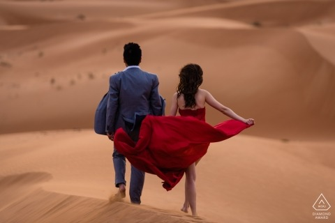 Desert Engagement Session | The Red Dress Photography