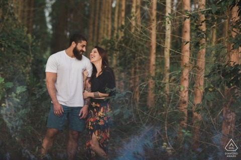 Pre Wedding Portraits in the Forest of a Couple from Macaé Rio de Janeiro