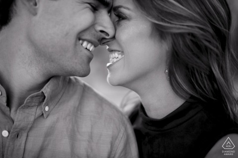 Tight portrait of Phoenix Arizona couple for their Engagement Photos