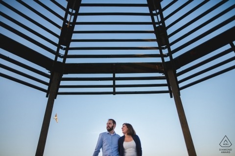 Creative Old Town Alexandria Engagement Session