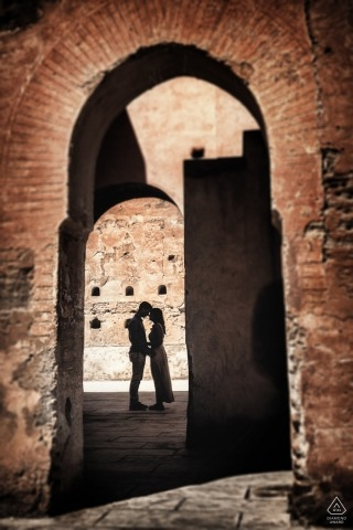 Venice engagement photo shoot in the Stone archways