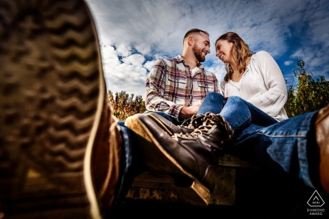 huwelijksfotograaf voor New Jersey engagement fotografie sessies buiten