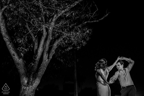 Black & White Key West Engagement Portraits in Florida