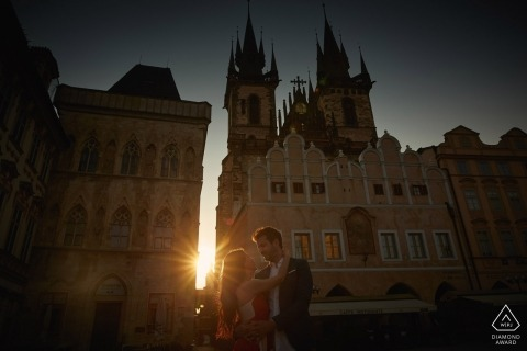 A Gorgeous sunrise Engagement Photo Session in Prague