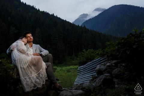 Rize, Turkije engagement shoot sessie in de bergen