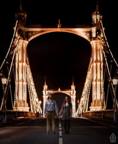 Dorset wedding engagement photography on the bridge by Robin Goodlad