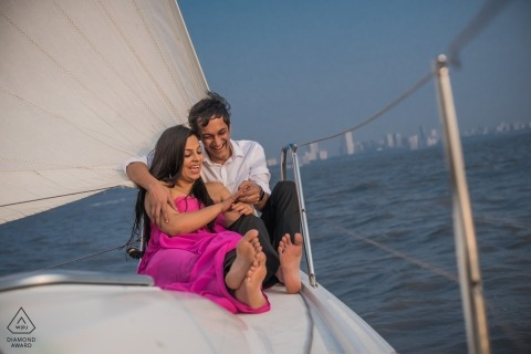 Engagement session in Mumbai for this couple in love with each other and sailing