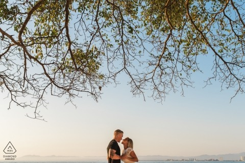 Canopy of trees | pre-wedding engagement pictures | Puerto Vallarta portrait shoot