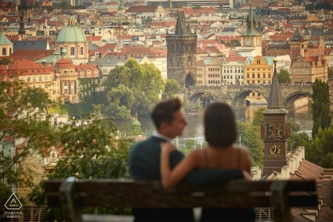 Wedding engagement & surprise marriage proposal in Prague C&D