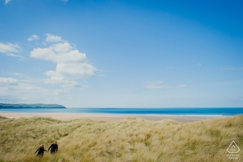 Portretsessie Woolacombe Dunes in Noord-Devon - GRW Engagement Photography