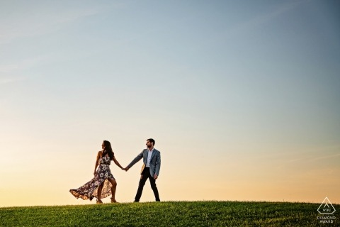 Maryland wedding engagement pictures by Baltimore photographer