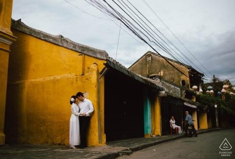 Eine Vietnam-Verlobungs-Fotoshooting-Sitzung eines Paares Da Nang-Fotograf