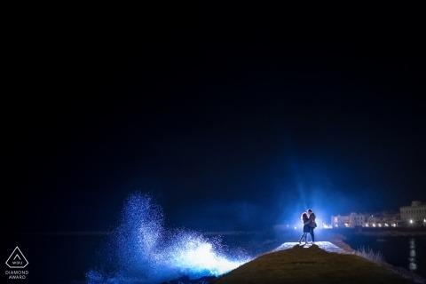 Syracuse Pre Wedding Engagement Photography met de nachtelijke hemel - Sicilië Fotografen