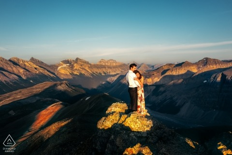 Canada wedding engagement photos for Alberta couples