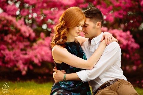 Fotografia ślubna na Long Island w jasnych kolorach jesieni | Fotografowie zaręczynowi z Nowego Jorku