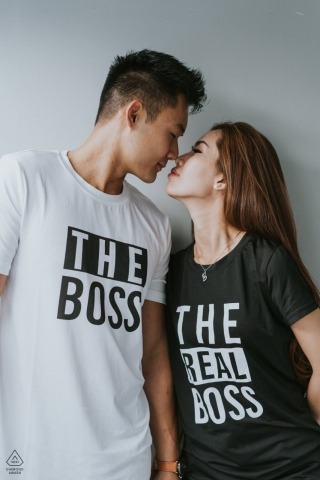 A Vietnam engagement photo shoot session of The Boss couple | Ho Chi Minh photographer