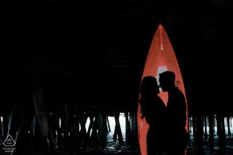 N. CA engagement image of couple at night | pre-wedding love session