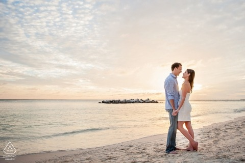 Florida destination wedding photographer for Key West engagement session photoshoot at the beach