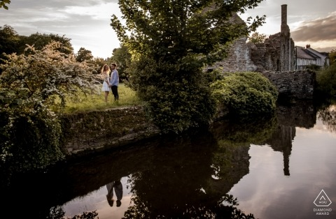 Dorset wedding engagement photos for England couples
