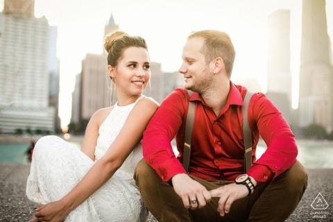 chicago engagement session with couple | Illinois Engagement Photographer