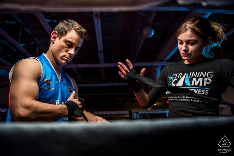 The Training Camp MMA | Mixed Martial Arts Engagement Portrait in Colorado