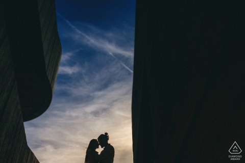 A London Pre-Wedding Photo Session Shoot with Blue Sky
