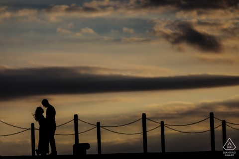 Coastal sunsent engagement session in Whistable Kent, UK